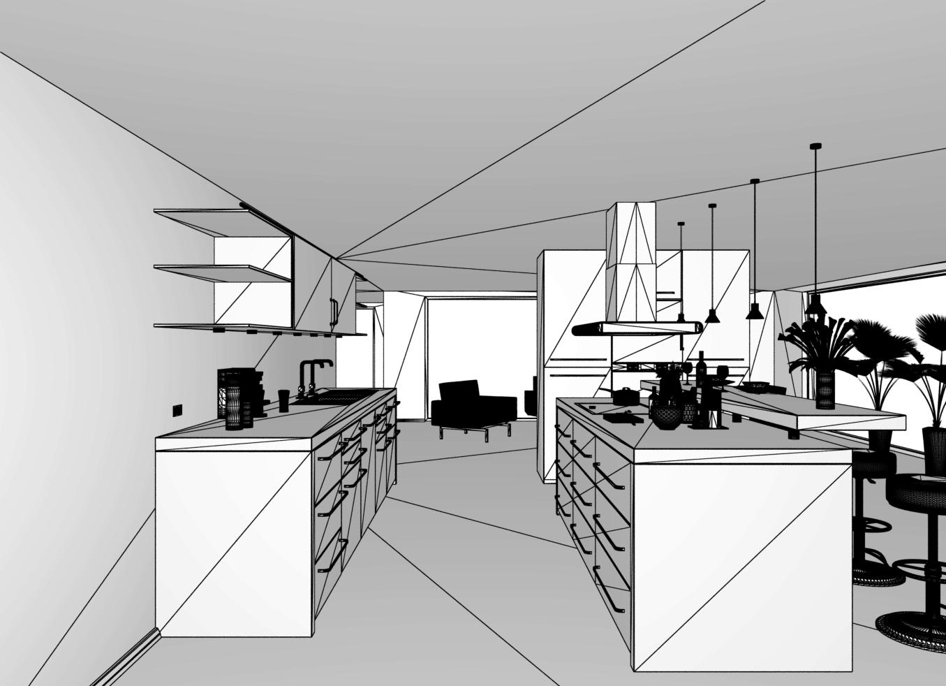 Interior – Kitchen color variations