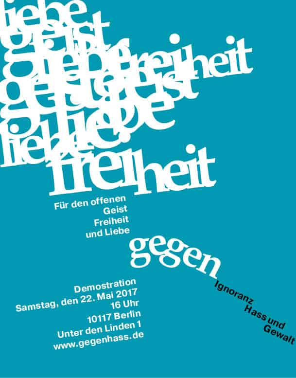 Typografische Anzeige