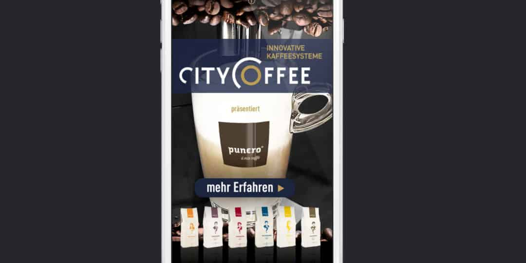 CITY COFFEE APP WITH SWEEPSTAKES