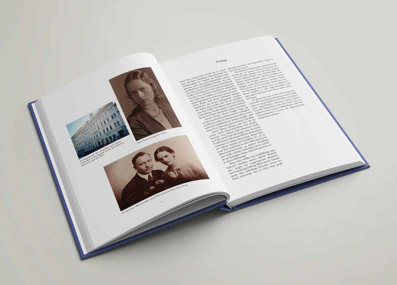 Buchgestaltung Biografie