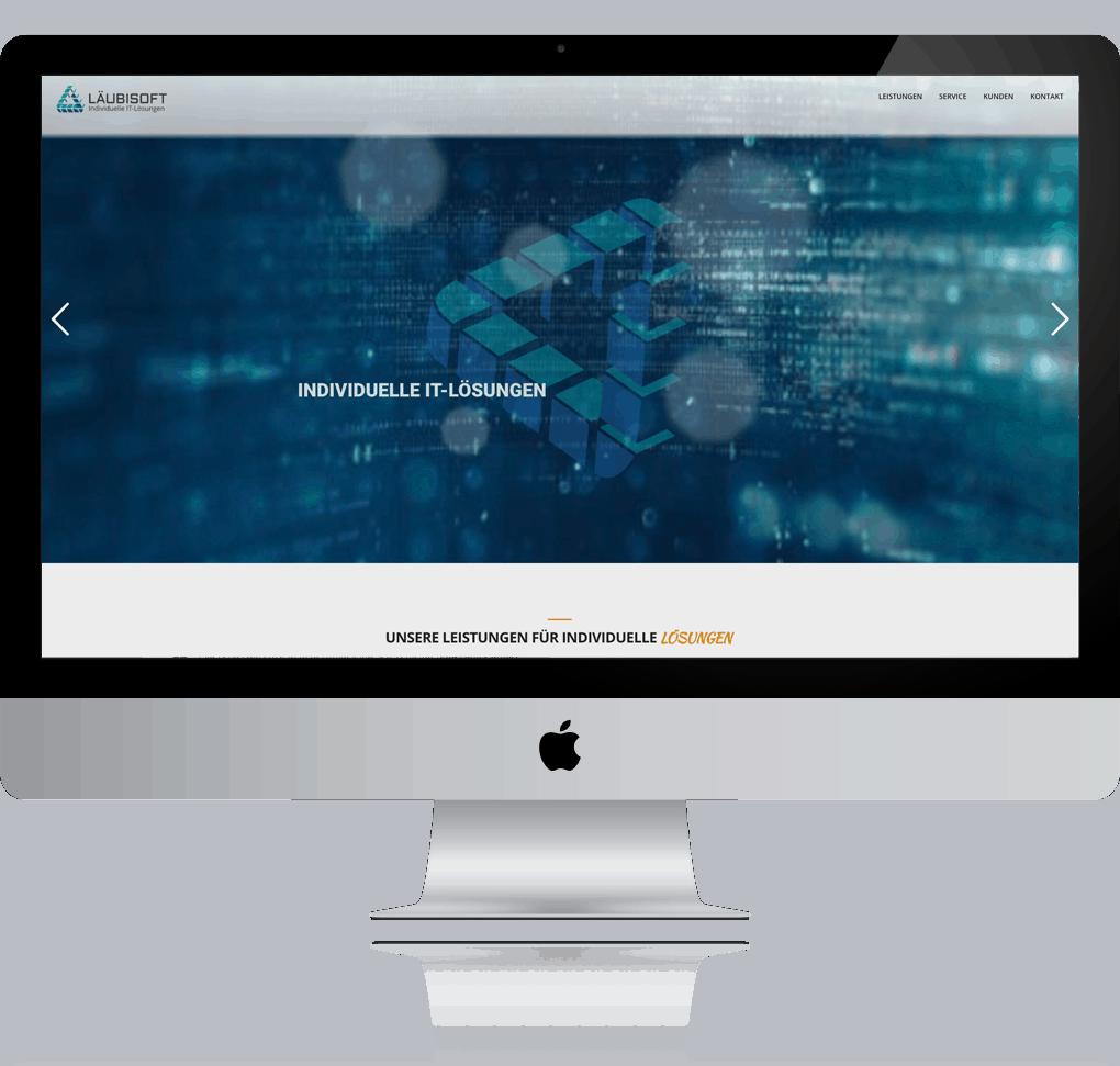 Logo und Homepage für die Läubisoft GmbH